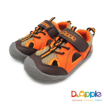 Dr. Apple 機能童鞋 經典微笑蘋果醫生休閒涼鞋款  橘