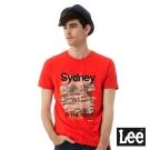Lee 城市短袖T恤Sydney-UR-男款-紅色