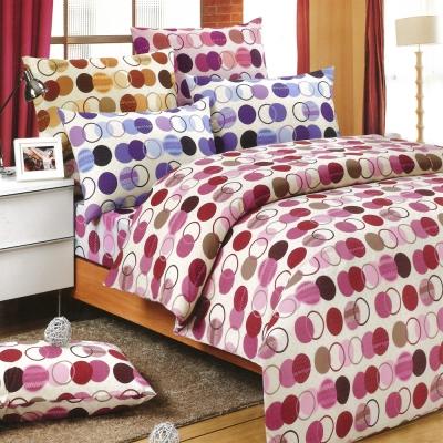 Carolan-圓點 精梳混紡棉單人床包被套三件組(3.5x6.2尺)