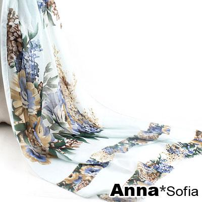AnnaSofia-層花錦簇-高密度織毛邊圍巾-輕