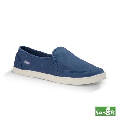 SANUK 復古水洗帆布休閒鞋-女款(藍色)