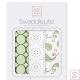 Swaddle Designs 薄棉羅紗多用途嬰兒包巾三入禮盒-樹葉圈圈 product thumbnail 1