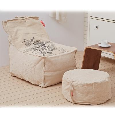 懶骨頭師傅-沙漠玫瑰 懶骨頭沙發椅 (L型主椅+椅凳)