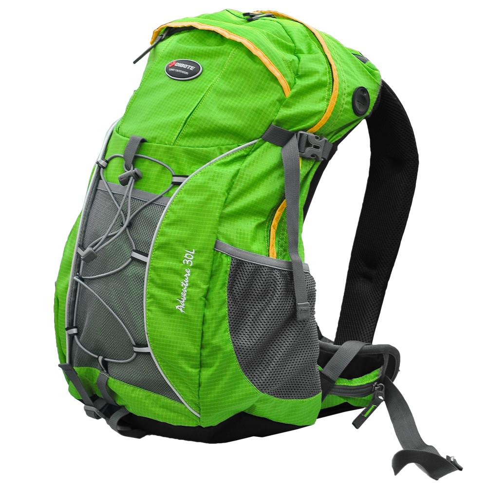 迪伯特DIBOTE 人體工學30L登山背包/登山包(綠) -快速到貨
