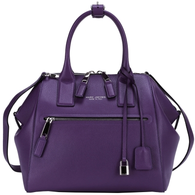 MARC JACOBS Textured Large Incognito 牛皮兩用包(紫)