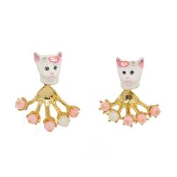 Les Nereides N2 貓咪系列 可愛小貓 金色耳環針式 法國 巴黎 設計師