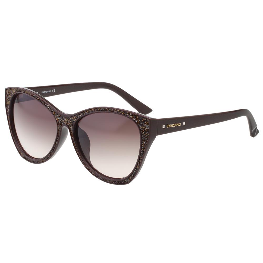 SWAROVSKI太陽眼鏡-貓眼-咖啡色-SW108F