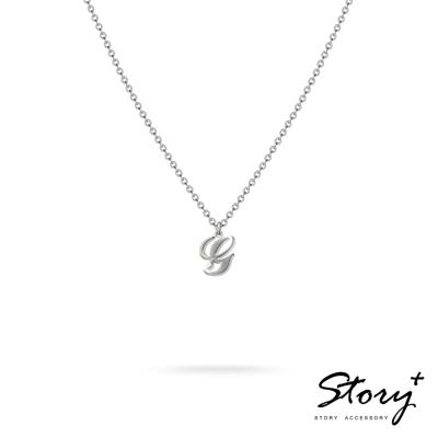 STORY ACCESSORY-字母系列-字母G 純銀項鍊