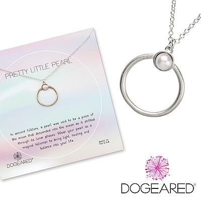 Dogeared Pretty Pearls Ring 珍珠戒指造型銀色項鍊 附原廠盒