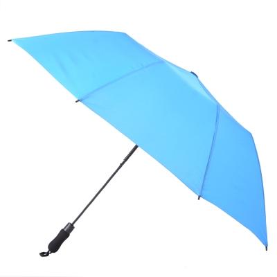 2mm 貝斯運動風 大傘面兩折自動傘 (天藍)