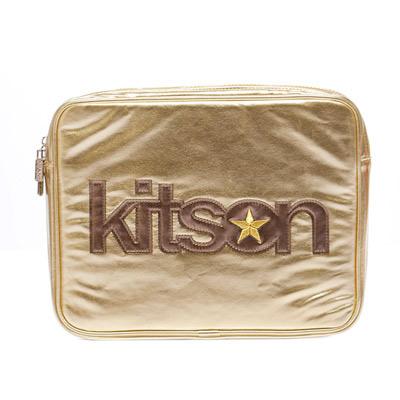 kitson 金屬光 NB / i-Pad 收納包-GOLD