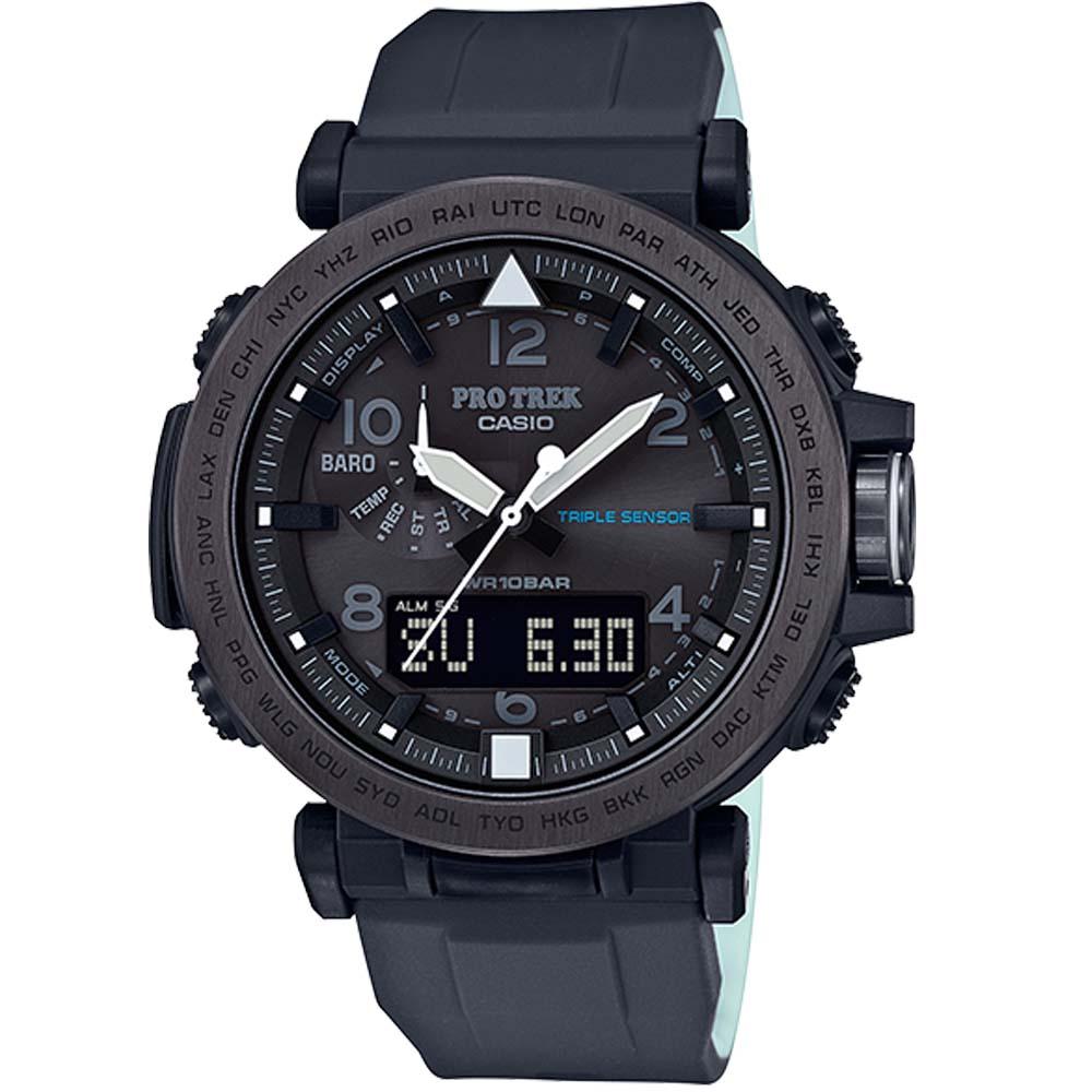 PROTREK專為夜間戶外活動灰色離子IP登山錶(PRG-650Y-1)黑框X黑/52mm @ Y!購物