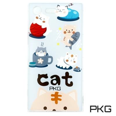 PKG SONY XZ-Premium 空壓氣墊保護殼(時尚彩繪)日常貓