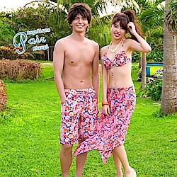 【AngelLuna日本泳裝】夢幻玫瑰男款泳褲/海灘褲