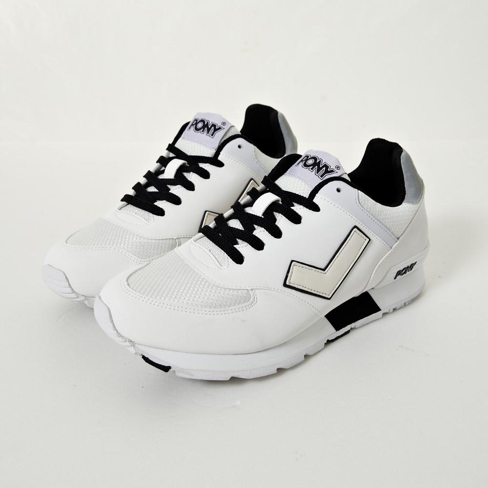 【PONY】SOLA-T系列-復古慢跑鞋慢跑鞋-白(女性)