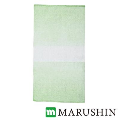 日本丸真 今治保濕美肌漸層浴巾-草綠