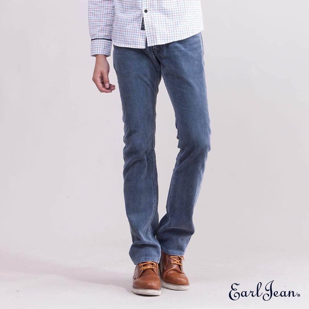 Earl Jean燈芯絨低腰合身窄管褲-深藍