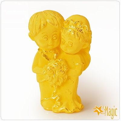 【Magic魔法金】珍愛一世 (結婚賀囍)立體黃金 (木盒精裝)