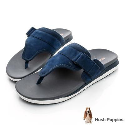 Hush Puppies AIREY  超輕量減壓運動拖鞋-深藍色