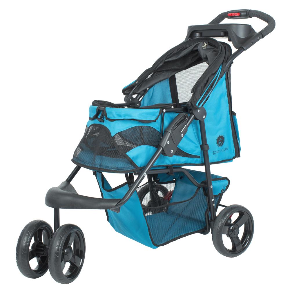 petique 百嬌客 時尚寵物推車(藍色)
