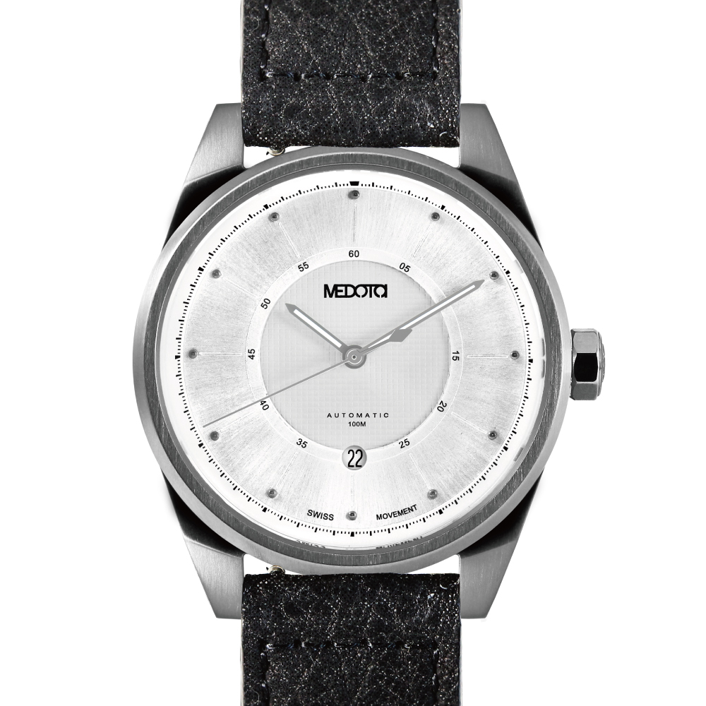MEDOTA Grancey 伊頓系列 奢華時尚腕錶-銀/白面48mm