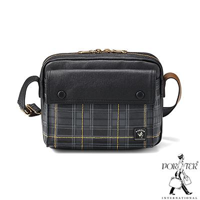 PORTER - 紳士品格CHECKER CHIC簡約時尚斜背包 - 黑