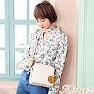 KINAZ 幸福花束鏈帶斜背包-純真白-雛菊系列