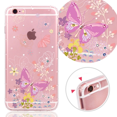 YOURS APPLE IPhone6/ 6s 奧地利水晶彩繪防摔氣墊手機鑽殼-...