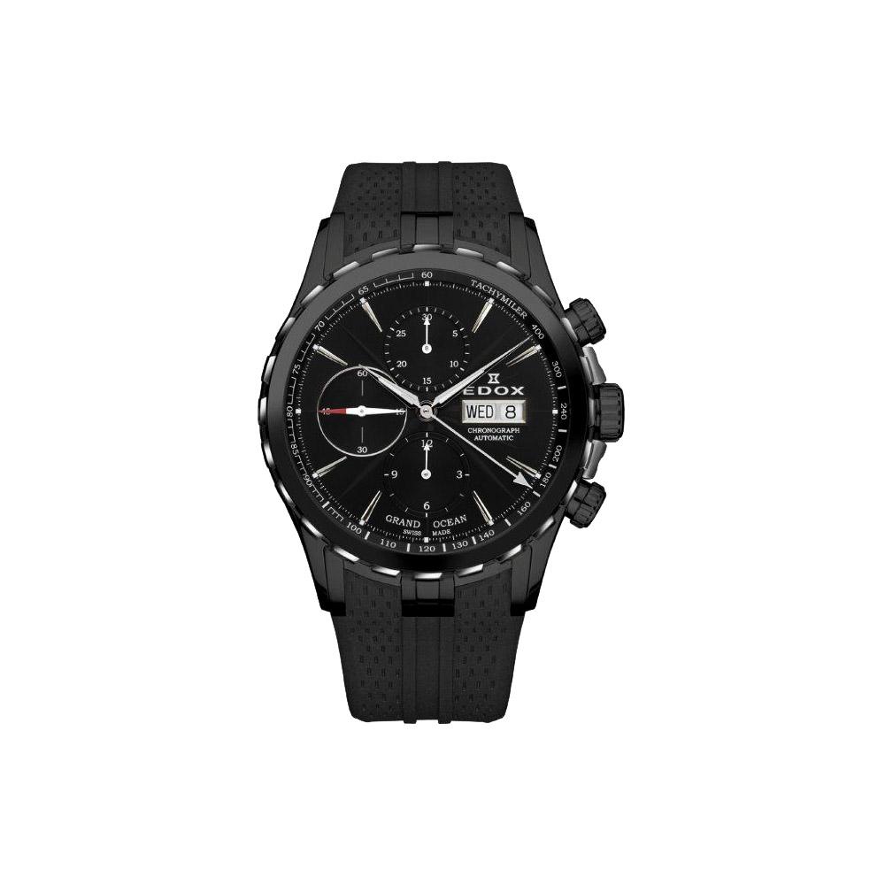 EDOX GRAND OCEAN 大視窗計時機械腕錶-45mm