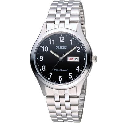 ORIENT 東方 古典優雅紳士腕錶-黑/37mm