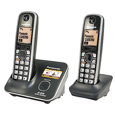 Panasonic  2.4G 數位高頻無線雙手機電話KX-TG3712(經典黑)