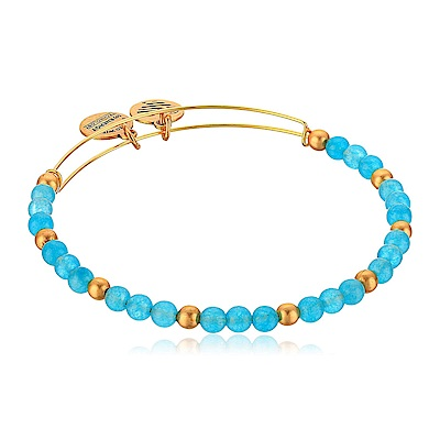 ALEX AND ANI美國手工 水藍色圓珠金色手環