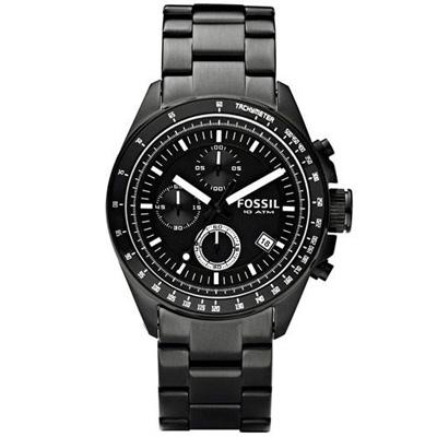FOSSIL 都會摩登三眼計時 腕錶(CH2601IE)-IP黑/44mm