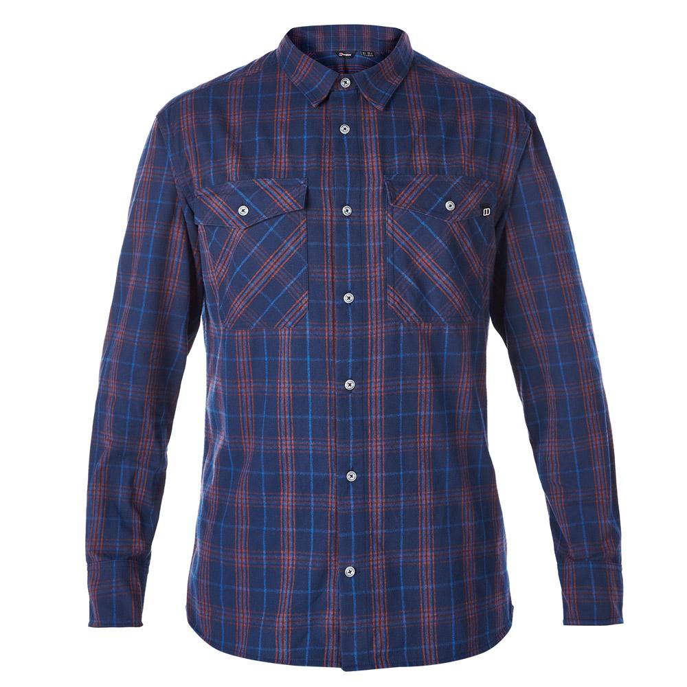 【Berghaus 貝豪斯】男款銀離子UPF50+保暖襯衫C05M01藍