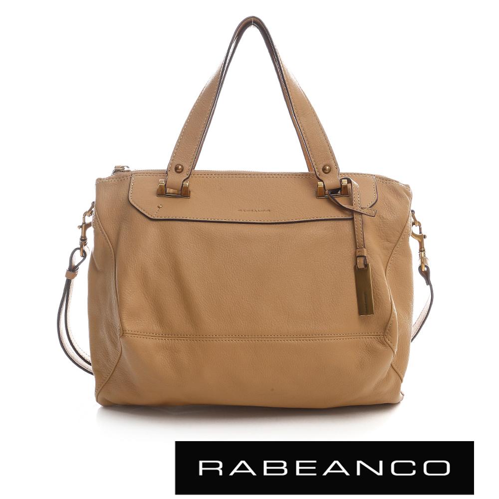RABEANCO OL時尚粉領系列菱形包(中) - 奶油蘭姆酒棕
