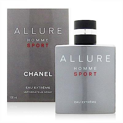 CHANEL香奈兒ALLURE HOMME SPORT男性香水極限版100ml法國進口