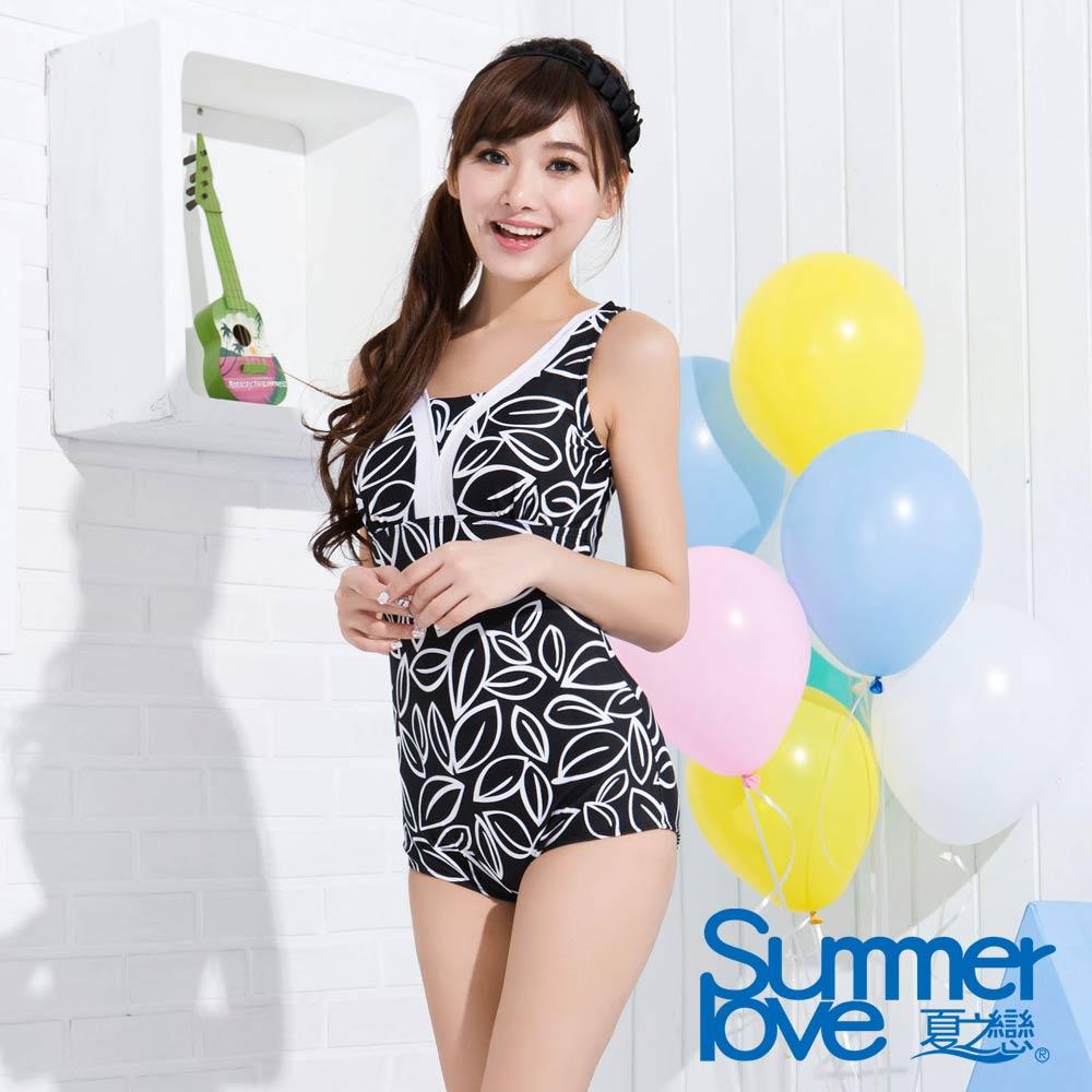 SUMMERLOVE 夏之戀 典雅連身三角泳衣