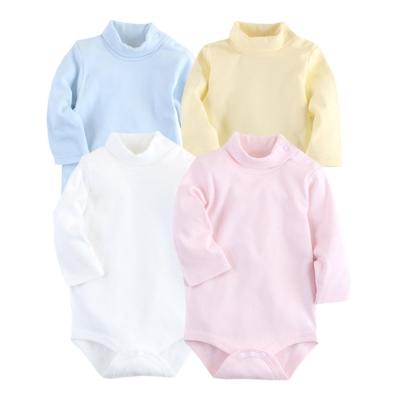 日本熱銷保暖連身高領內搭空氣棉包屁睡衣(【 2 件入】