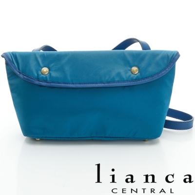 lianca 純手工製LIMONTA相機包(中) 藍綠