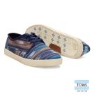 TOMS 圖騰織紋休閒鞋-男款(藍)