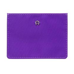 AIGNER PICO 4卡優遊卡/信用卡套-亮紫