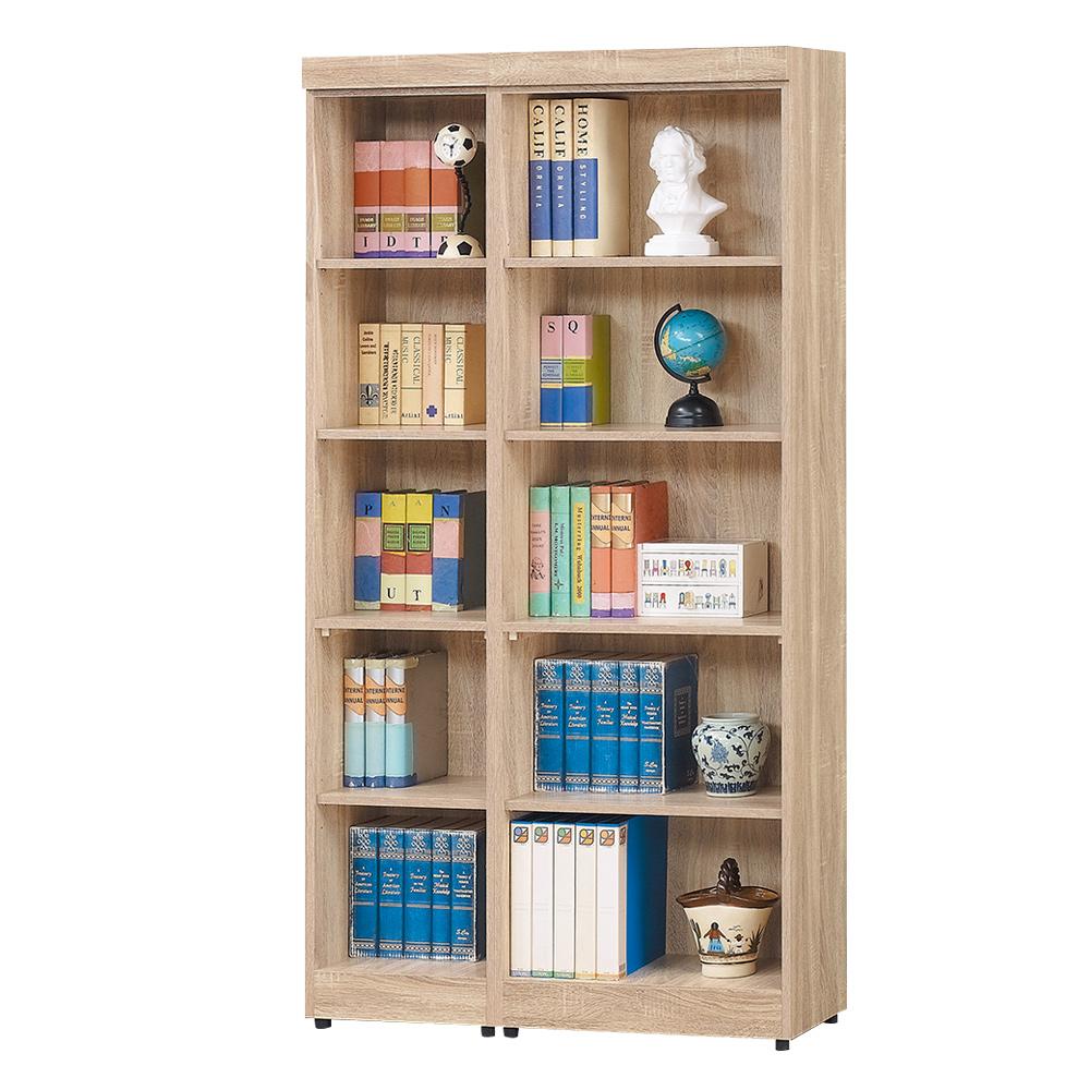Boden-達爾思3.3尺開放式書櫃/收納櫃/展示櫃組合-100x32x185cm