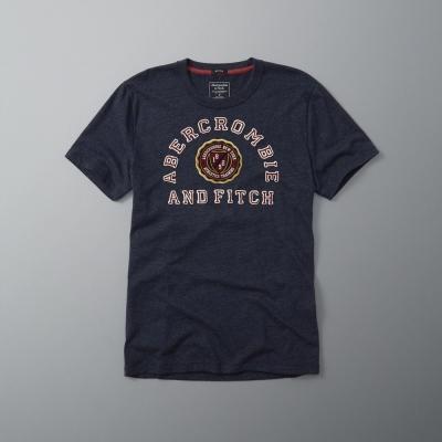 AF a&f Abercrombie & Fitch 短袖 T恤 深藍 097