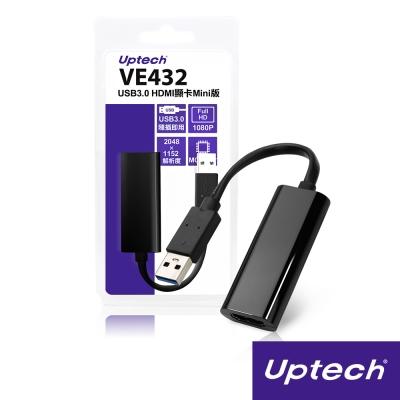 Uptech USB3.0 HDMI顯卡Mini版-VE432