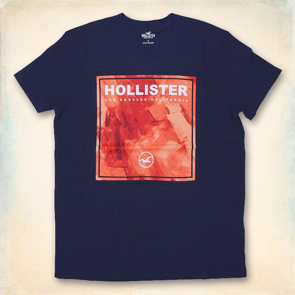 Hollister HCO 短袖 LOGO T恤 藍色 404