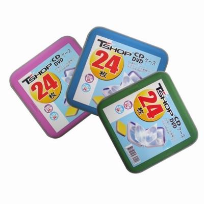24片裝CD/DVD拉鍊式光碟收納包PE-24(四入裝)