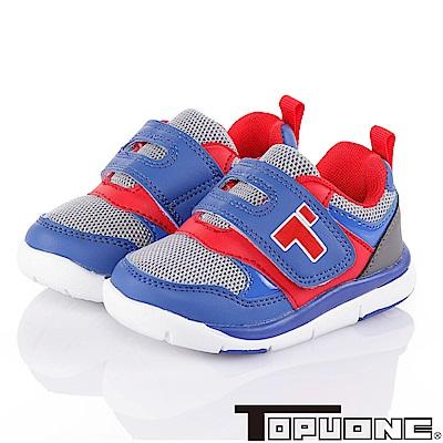 TOPUONE 輕量透氣抗菌防臭吸震防滑童鞋-藍(14-19cm)
