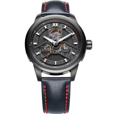 FIYTA飛亞達 極限系列機械錶(WGA1008.BBB)-黑色/42mm
