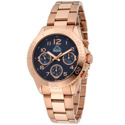 Kappa 獨特三眼不鏽鋼時尚腕錶-藍/40mm