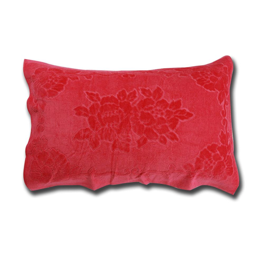 《HOYA active》超柔細純棉壓紋枕巾(2入) 5.亮眼桃